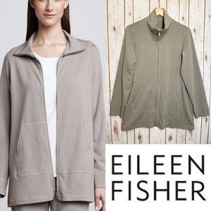 EILEEN FISHER organic cotton zip up jacket